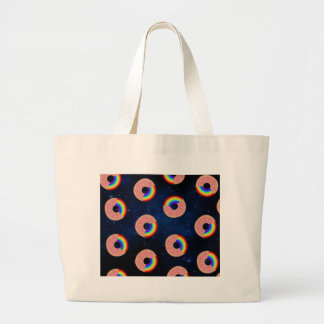 Galaxy Donut Rainbows Large Tote Bag