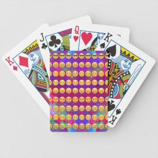 Galaxy Emojis Bicycle Playing Cards