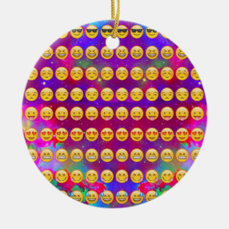 Galaxy Emojis Ceramic Ornament