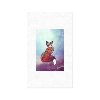 Galaxy Fox Art Canvas Print