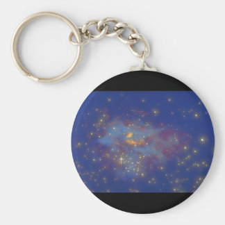 Galaxy. (galaxy;space;stars;color_Space Scenes Basic Round Button Key Ring