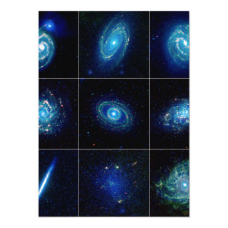 Galaxy Gallery - Nine Spectacular Galaxies Personalized Invitations