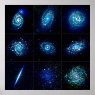 Galaxy Gallery - Nine Spectacular Galaxies Poster