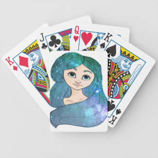 Galaxy Girl Bicycle Playing Cards