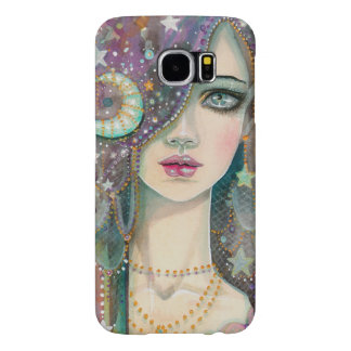 Galaxy Girl Bohemian Gypsy Fantasy Art Portrait Samsung Galaxy S6 Cases
