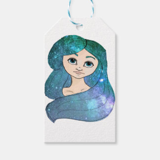 Galaxy Girl Gift Tags