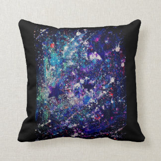 Galaxy Glitter Throw Pillow