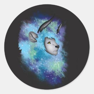 Galaxy Horned Lion Classic Round Sticker