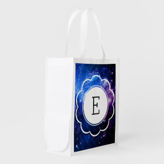 Galaxy Initial Reusable Grocery Bag