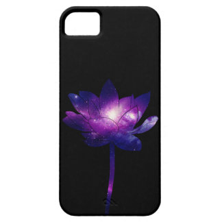 Galaxy Lotus Flower - black iPhone 5 Cases