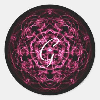 Galaxy mandala. monogram. classic round sticker
