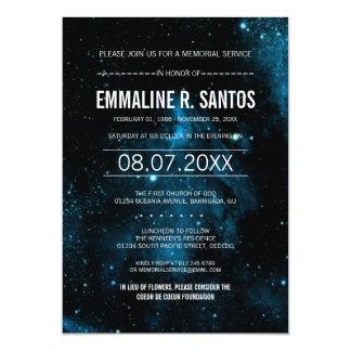 Galaxy Memorial Service Invite