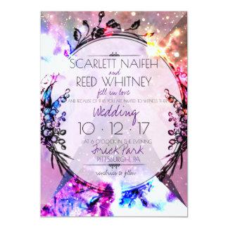 Galaxy Modern Space Hip Wedding Invitation