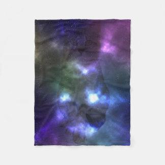 Galaxy Nebula Cat Fleece Blanket