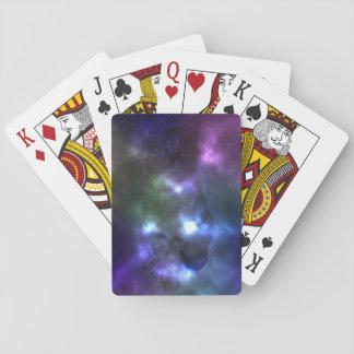 Galaxy Nebula Cat Playing Cards