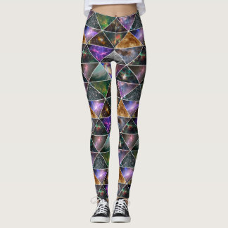 Galaxy Nebula Cosmic Space Colourful Geometric Leggings