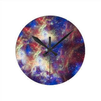 Galaxy Nebula Personalized Astronomy Space Round Clock