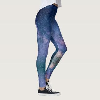 Galaxy Nebula Stars Space Texture Leggings