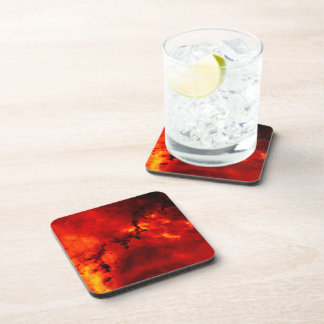 Galaxy On Fire Beverage Coaster