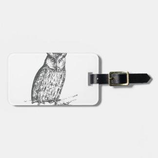 Galaxy owl 1 luggage tag