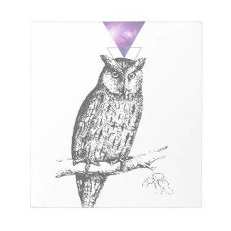 Galaxy owl 1 notepad