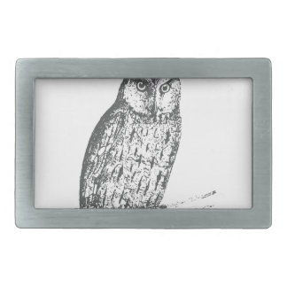 Galaxy owl 1 rectangular belt buckles