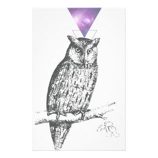 Galaxy owl 1 stationery