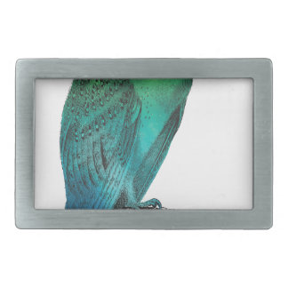 Galaxy owl 2 rectangular belt buckle