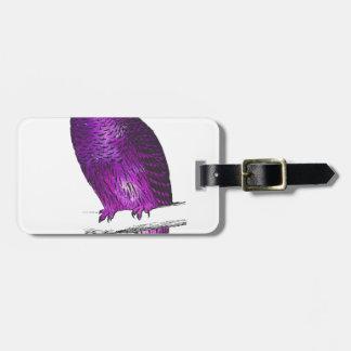 Galaxy owl 3 luggage tag