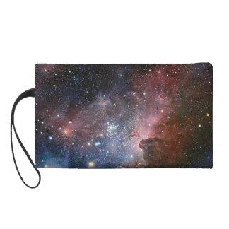Galaxy pencil case/make up case wristlet clutch