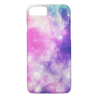 galaxy pink and blue iphone case