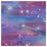Galaxy pink beautiful night starry sky image fabric