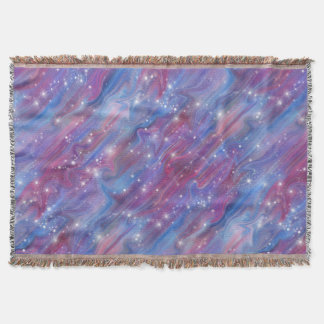 Galaxy pink beautiful night starry sky image throw blanket