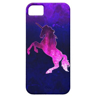 Galaxy pink beautiful unicorn sparkly image barely there iPhone 5 case