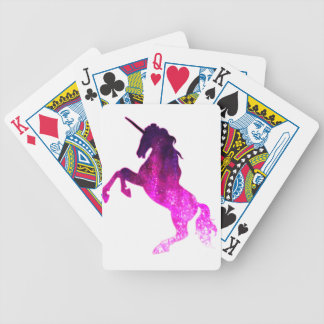 Galaxy pink beautiful unicorn sparkly image bicycle playing cards