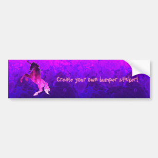 Galaxy pink beautiful unicorn sparkly image bumper sticker