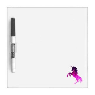 Galaxy pink beautiful unicorn sparkly image dry erase whiteboard