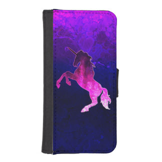 Galaxy pink beautiful unicorn sparkly image iPhone SE/5/5s wallet case