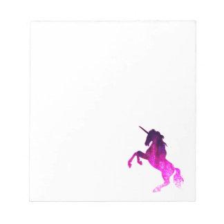 Galaxy pink beautiful unicorn sparkly image notepad