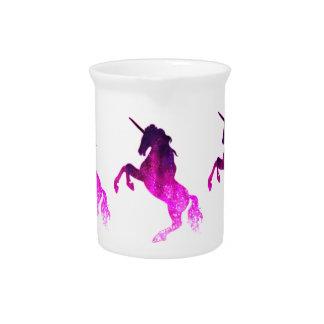 Galaxy pink beautiful unicorn sparkly image pitcher
