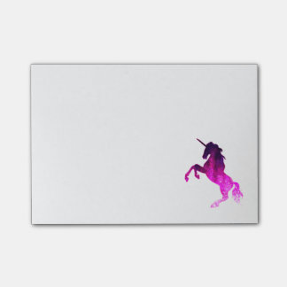 Galaxy pink beautiful unicorn sparkly image post-it notes
