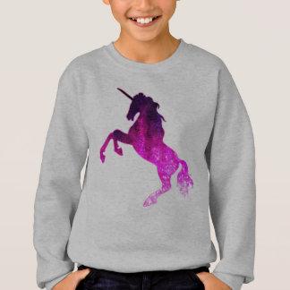 Galaxy pink beautiful unicorn sparkly image sweatshirt