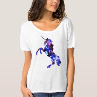Galaxy pink beautiful unicorn sparkly image T-Shirt