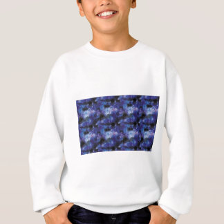 galaxy pixel art in blue sweatshirt