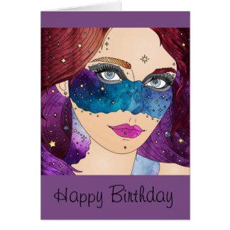 Galaxy Princess Birthday Card