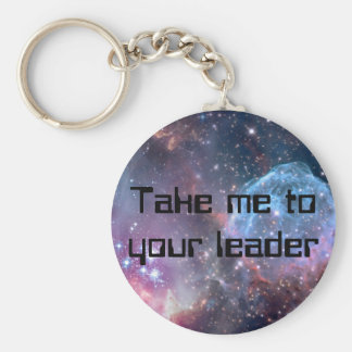 Galaxy Print and personalised text keychain