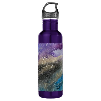 Galaxy Print Outer Space Watercolor Bottle