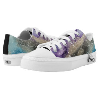 Galaxy Print Outer Space Watercolor Shoe