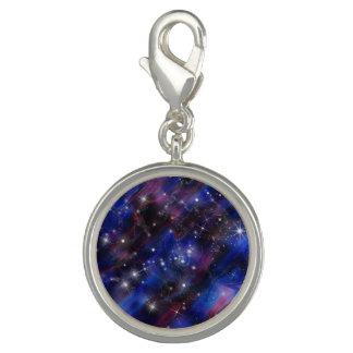 Galaxy purple beautiful night starry sky image