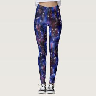 Galaxy purple beautiful night starry sky image leggings